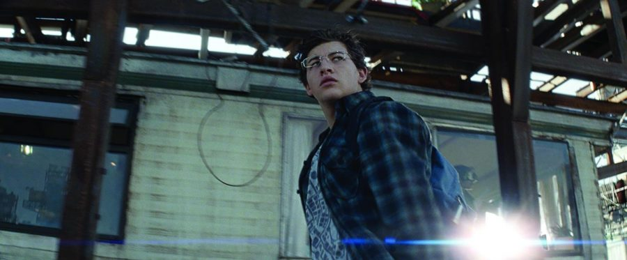 Wade/Parzival (Tye Sheridan) spares a nervous over-the-shoulder glance. Photo courtesy of IMDb.com