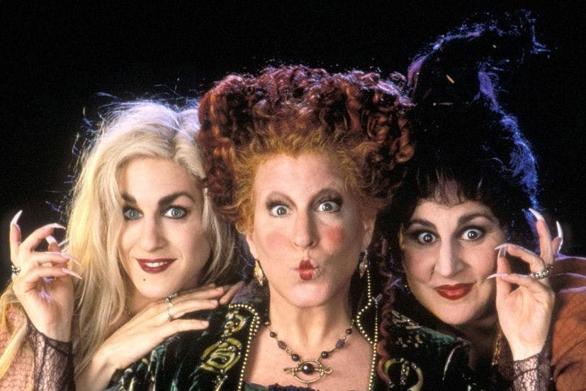 The Sanderson sisters, played by Sarah Jessica Parker, Bette Midler and Kathy Najimy, prepare to cast a spell in the poster for Hocus Pocus. Photo courtesy of www.bing.com