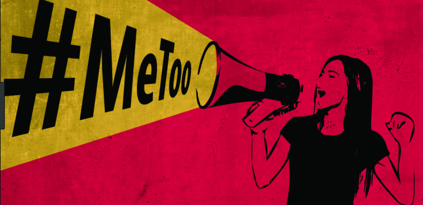 Woman shouts out the #MeToo movement. Image courtesy of Medium.com