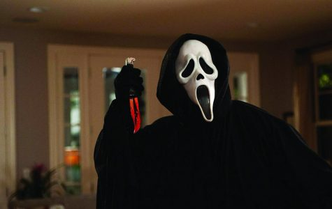Ghost face from the classic 1996 movie Scream stands in  a menacing way. Photo courtesy of www.bing.com.