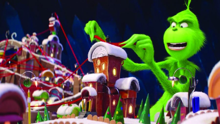 The Grinch plans out his way through Whoville.