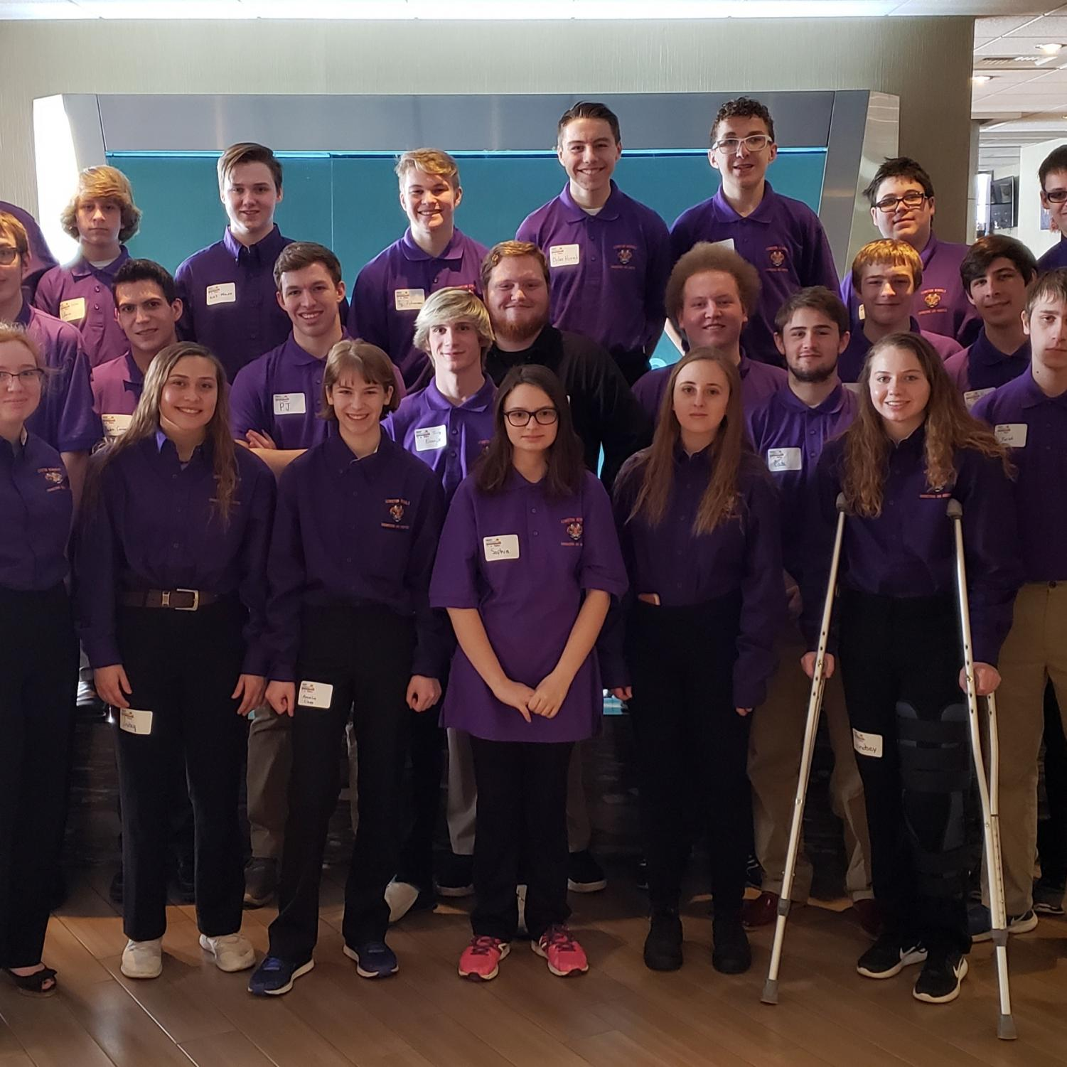 Engineering students competed at the Idaho Science and Engineering Fair in Coeur d'Alene March 1.