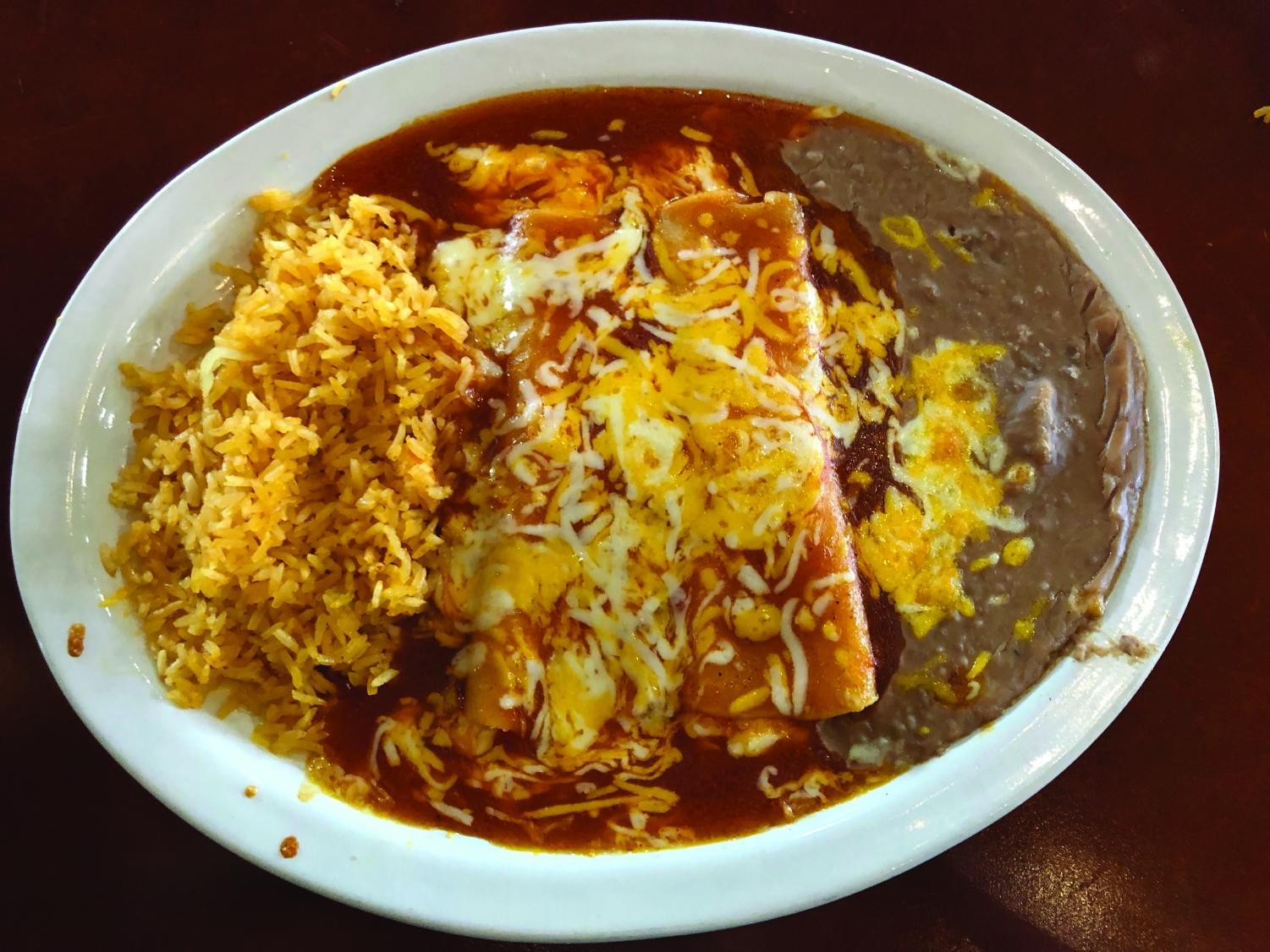 The Three Enchilada dish served at Sinaloa.