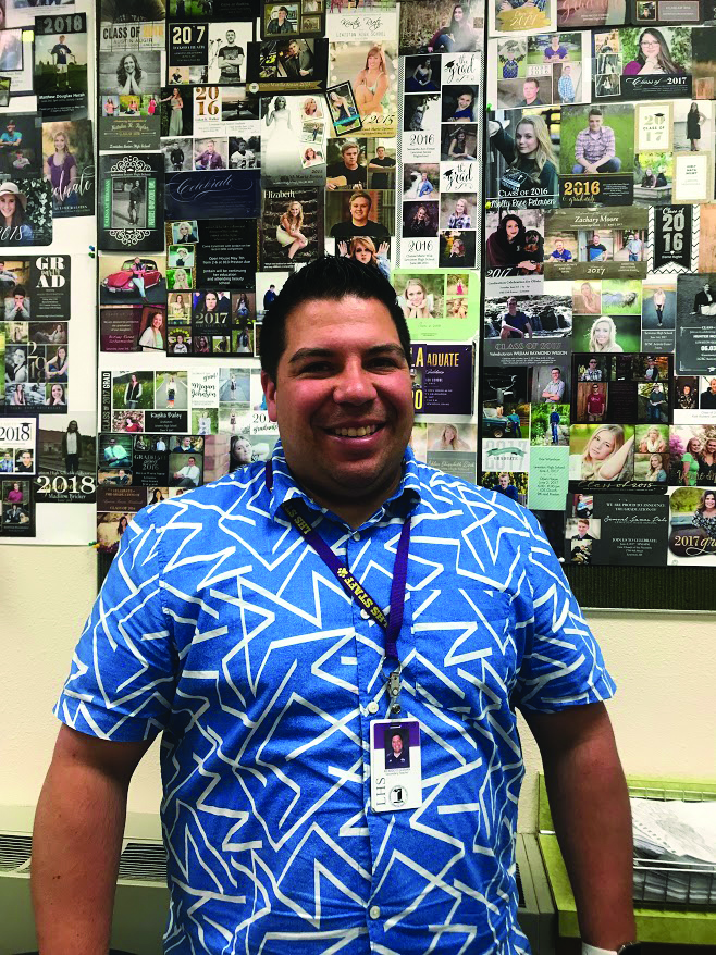 Ricky+Guzman+stands+for+a+photo+in+his+classroom+at+LHS.+