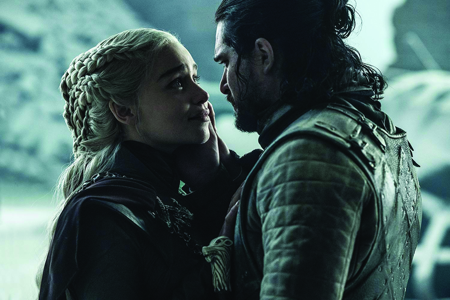 Unknowingly, Daenerys (Emilia Clarke) takes one last look at her lover before he kills her.