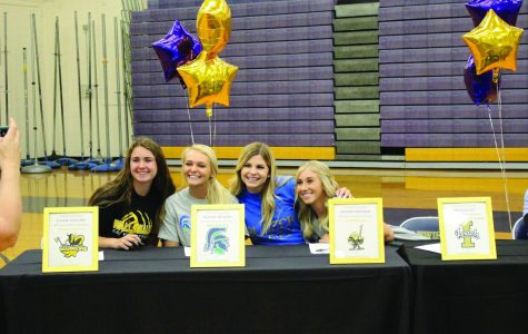 From left to right: Kassie Collins, Maddy Murphy, Maddy Skinner and Peyten Ely.