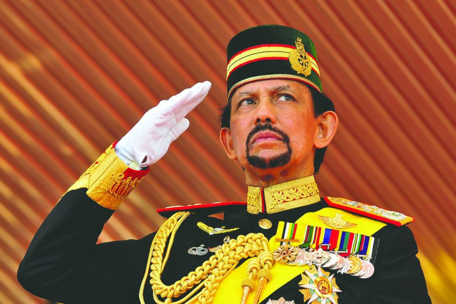 The+Sultan+of+Brunei+salutes+a+crowd.+Photo+courtesy+of+ibtimes.co.uk.+