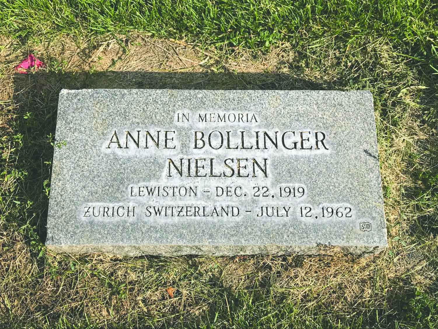Anne Bollinger now rests in Lewiston's Normal Hill Cemetery. Photo by Josie Hafer.