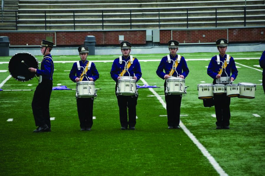 Marching+band+participants+compete+in+annual+competition+for+the+2019-2020+year.