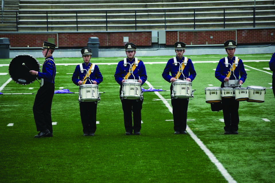Marching band participants compete in annual competition for the 2019-2020 year.