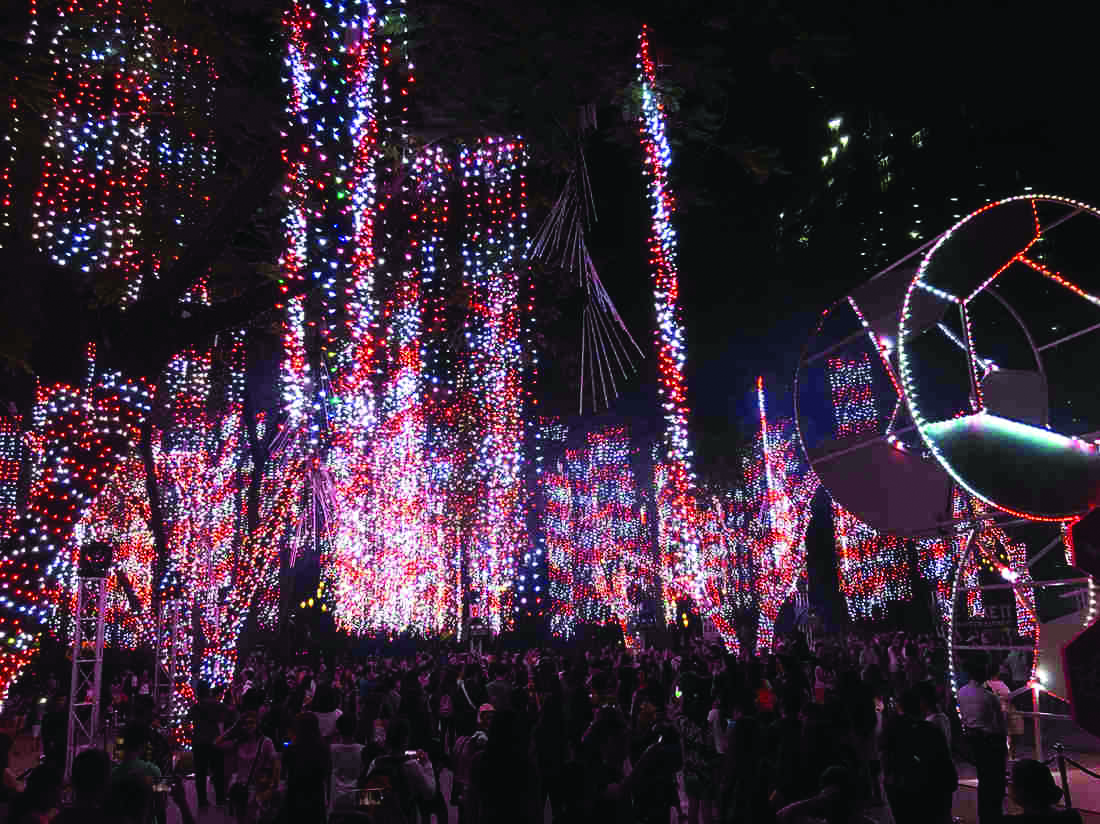 The Phillipines celebrating Christmas with a beautiful lightshow. Photo courtesy of media.npr.org