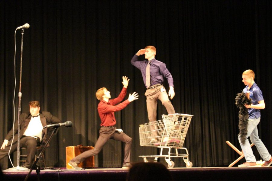 Henry+Pals+stands+above+his+competition+during+Mr.+LHS+on+Nov.+21.+Photo+by+Jazmyne+Hartogh.