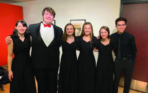 Six LHS choir students find time to meet up during All-State Choir in Nampa, idaho. Photo courtesy of Kari Wilsey.