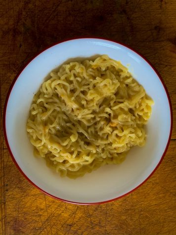 Ramen Cacio e Pepe, recipe by Josh Scherer of Mythical Kitchen. Photo by Kim Neri