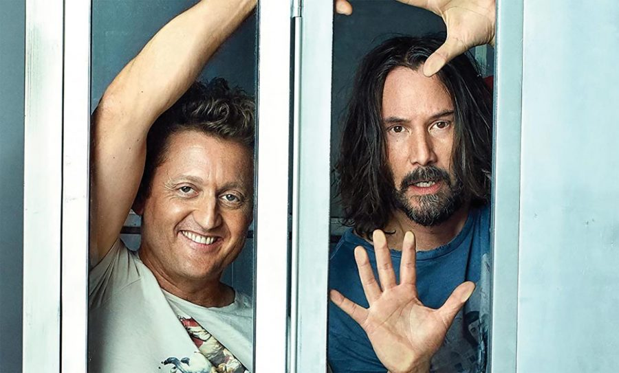 Winter and Reeves reprise their roles as Bill and Ted.
