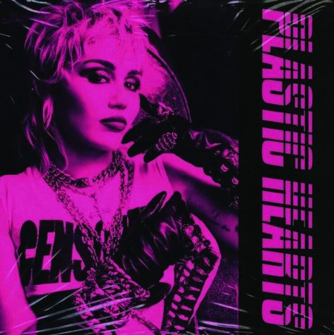 Album cover art for Miley Cyrus most recent album, Plastic Hearts. Photo courtesy of iheart.com