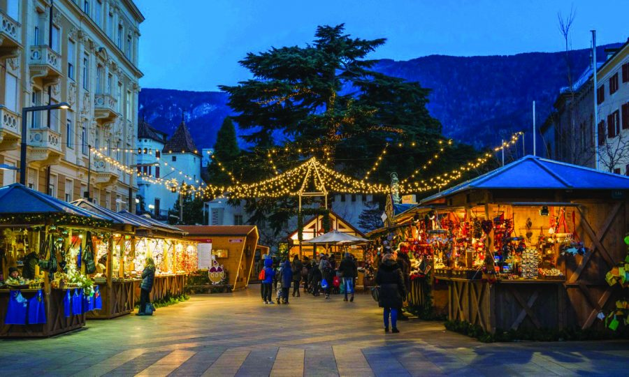 An Italian christmas market runs in full-swing pre-Covid.