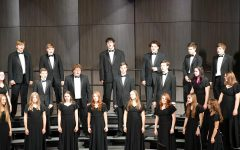 LHS Gold Voices sing in concert Oct. 20, 2020, at the high school auditorium.