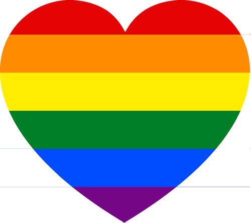 Gay-Straight Alliance heart symbol.