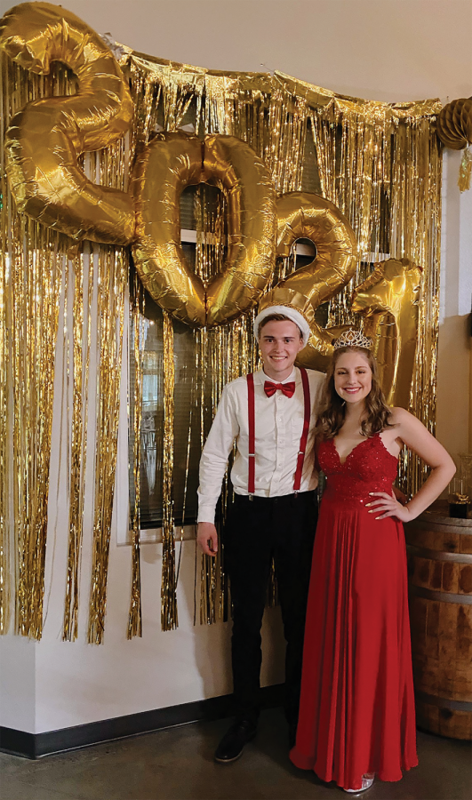Prom king and queen Isaiah Schmidt  on the left and Selah Chavez on the right. Photo courtesy of Selah Chavez.